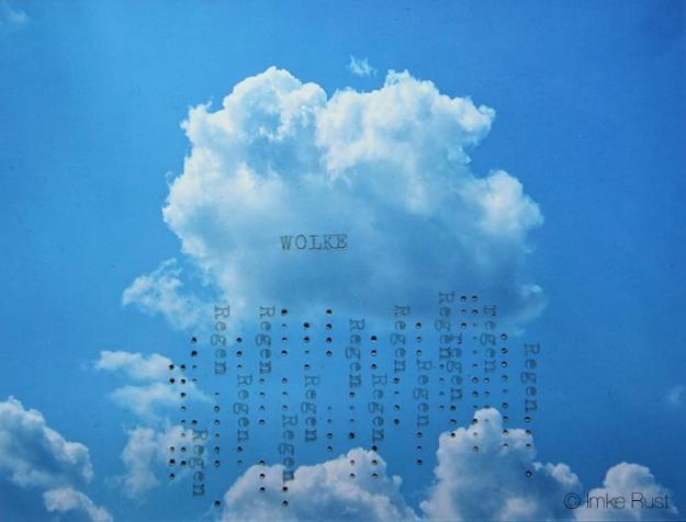 Typed Rain (on photograph) by Imke Rust