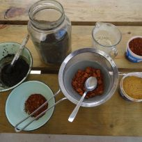 Making paint from earth pigments