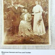 My ancestors who first came to southwest Africa in 1874. Missionary Dannert and his wife Auguste (Dahl) and a daughter. The curator Museum auf der Hardt has decided to add some links from the archives related to my ancestors to the exhibition. Like this photo. I notice the love of cats goes back a few generations.
