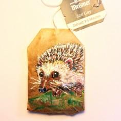 Teabag Totem Hedgehog (Sold)
