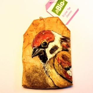 Teabag Totem Sparrow (Sold)