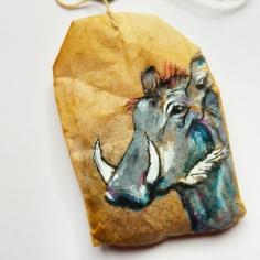 Teabag Totem Warthog (Sold)