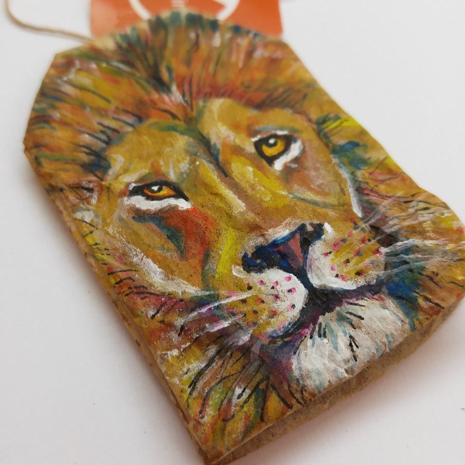 Teabag Totem Lion (Sold)