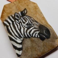 Teabag Totem Zebra