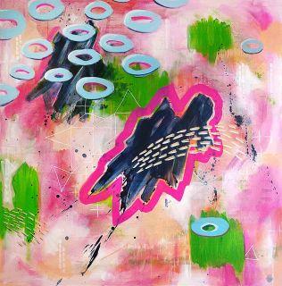 Intergalactic Happiness, Acrylic on Canvas, 100x100cm