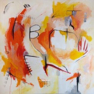Sommer, Acrylic on Canvas, 100x100cm