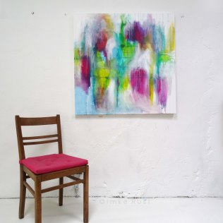 Untitled, Acrylic on Canvas, 100x100cm