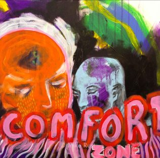 Comfort Zone, Acrylic on Canvas, 50x50cm