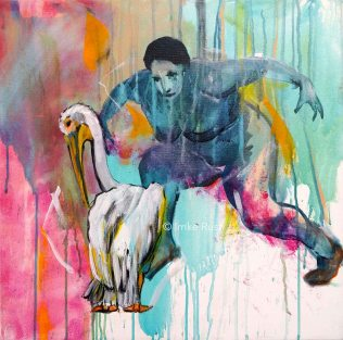 Catching my Dreams, Acrylic on Canvas, 50x50cm