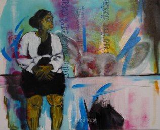 Waiting, Acrylic on Canvas, 40x50cm