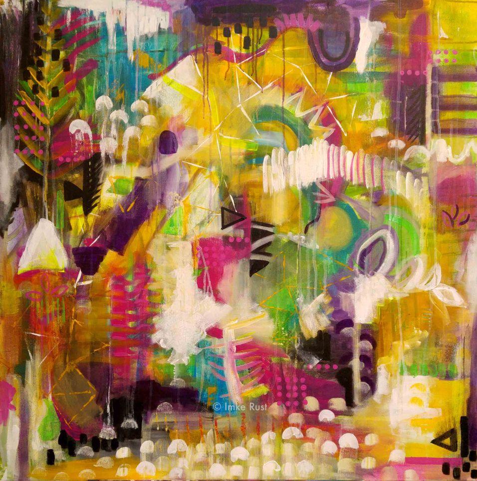 Forest, Acrylic on Canvas, 100x100cm